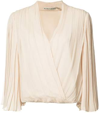 Alice + Olivia Alice+Olivia pleated wrap blouse