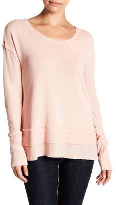 Melrose and Market Long Sleeve Mixed Knit Blouse (Regular & Petite)