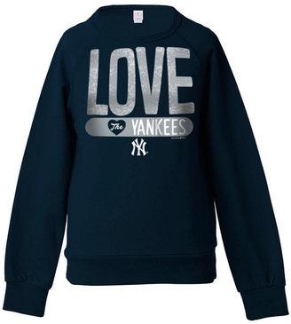 5th & Ocean Girls' New York Yankees Sequin Raglan Sweatshirt $34 thestylecure.com