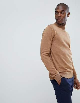 French Connection Plain 100% Cotton Turtleneck Sweater