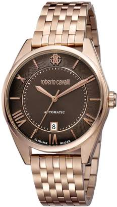Roberto Cavalli by Franck Muller Men's 'CLASSIC' Swiss Automatic Stainless Steel Casual Watch, Color:Rose Gold-Toned (Model: RV1G013M0086)