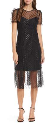 J.Crew Sheer Polka Dot Party Dress