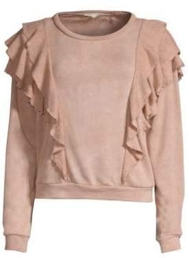 LoveShackFancy Melanie Ruffle Sweatshirt