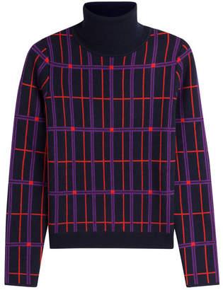 Carven Printed Wool Turtleneck Pullover