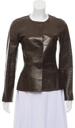 Chanel Tailored Leather Jacket