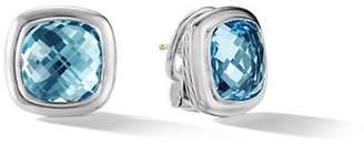 David Yurman Albion Stud Earrings in Sterling Silver with Sky Blue Topaz