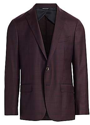 Saks Fifth Avenue Women's COLLECTION Check Wool Sportcoat