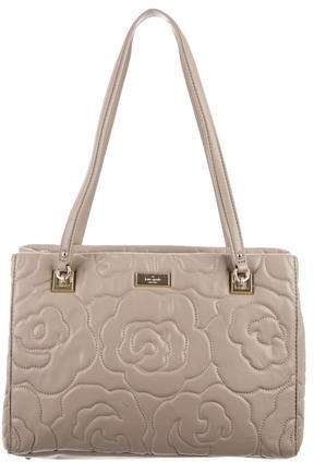 Kate SpadeKate Spade New York Floral Quilted Leather Tote