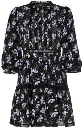 By Ti Mo By Timo panel insert floral print mini dress