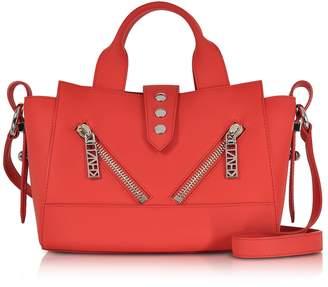 Kenzo Fire Red Gommato Leather Mini Kalifornia Handbag