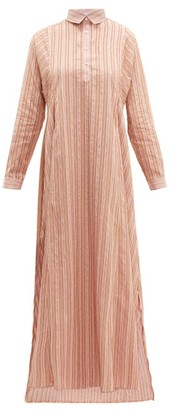 Thierry Colson Tiziana Striped Fil Coupe Dress - Womens - Pink