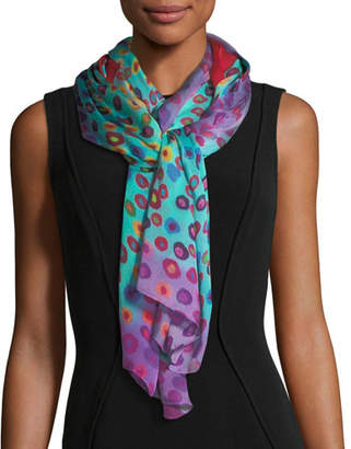 Mila Louise & Such Bind Me Not Silk Rectangle Scarf