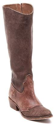 Matisse Trouble Snake Print Embossed Leather Knee-High Boot