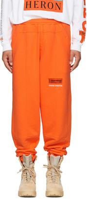 Heron Preston Orange HP Sweatpants $305 thestylecure.com