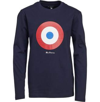 82d01e201 Ben Sherman Junior Boys Target Long Sleeve T-Shirt Navy Blazer
