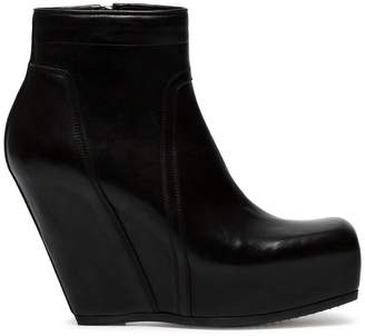 ... Rick Owens Black Concealed Wedge 110 leather boots