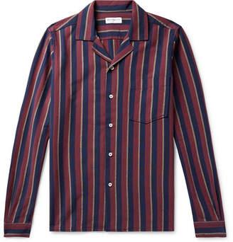 President's Camp-Collar Striped Cotton Oxford Shirt