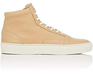 Common Projects Men's Skate Grained Leather Sneakers - Beige, Tan