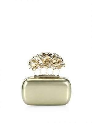 Alexander McQueen Rose Four-Ring Clutch