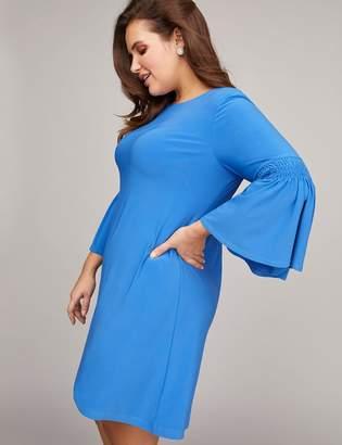 Bell-Sleeve Swing Dress