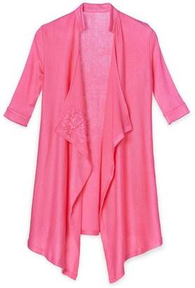 Pink Label Celeste Lace Sleeve Flyaway Top