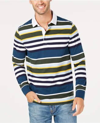 Club Room Men's Multi Stripe Rugby Shirt, Created for Macy's