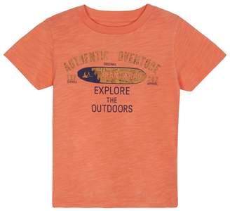 Mantaray 'Boys' Orange Cork Effect Logo T-Shirt