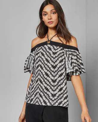 Ted Baker YULIAA Tie detail off-shoulder top