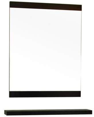 Bellaterra Home Wood Mirror - Gray - 23.6W x 31.5H in.