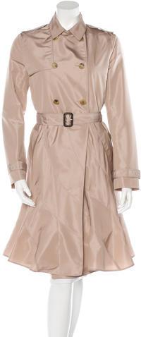 ValentinoValentino Silk-Blend Trench Coat