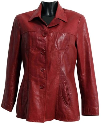Oakwood Burgundy Leather Jacket for Women