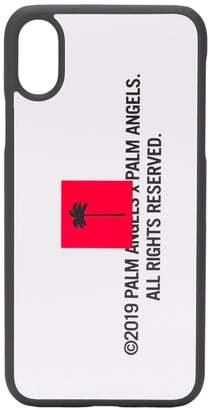 Palm Angels logo print iPhone X case