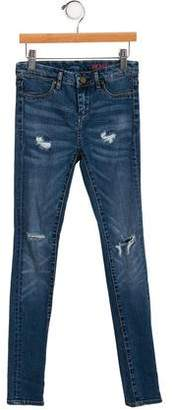 Blank NYC Girls' Low-Rise Distressed Jeans