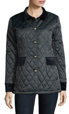 Vince Camuto Snap Front Quilted Coat