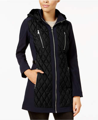 1 Madison Expedition Hooded Diamond-Quilted Puffer Coat