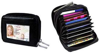 ONLINE RFID Identity Safe Double Zippered Accordion Wallet