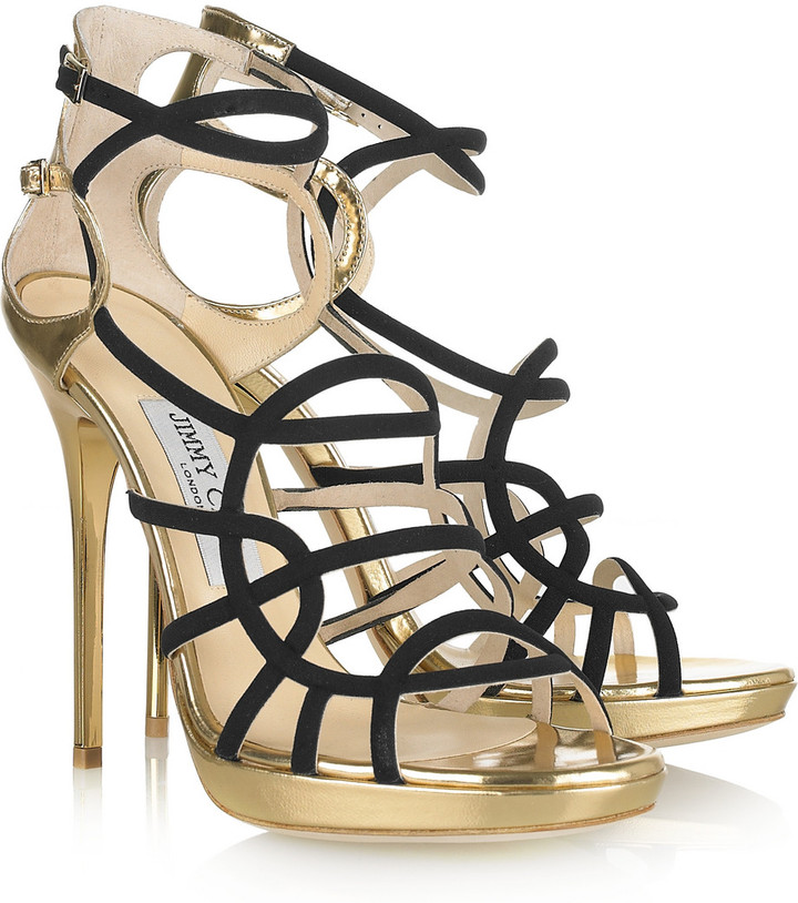 Jimmy Choo Bunting metallic leather sandals
