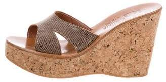 K Jacques St Tropez Wedge Slide Sandals