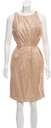 J. Mendel Metallic Sheath Dress