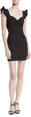 Cinq à Sept Jolie Mathis Sweetheart-Neck Seamed Mini Cocktail Dress