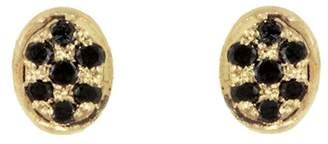 Black Diamond Ivshin Elongated Stud Earrings - Yellow Gold