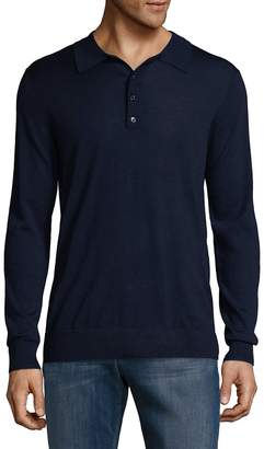 Blend of America G/FORE Men's Silk & Wool Heathered Long Sleeve Polo