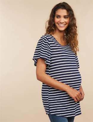 d50ee3cb2 at Motherhood · Motherhood Maternity Flutter Sleeve Maternity T Shirt