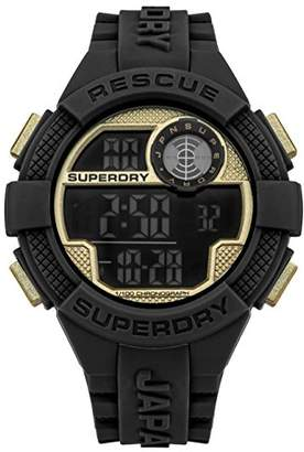 Superdry Quartz Rubber and Silicone Casual Watch