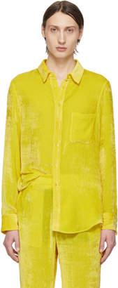 Sies Marjan SSENSE Exclusive Yellow Velvet Cord Shirt