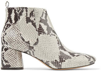 Marc Jacobs Snake-effect Leather Ankle Boots - Snake print