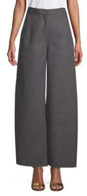Valentino Wide-Leg Wool Pants