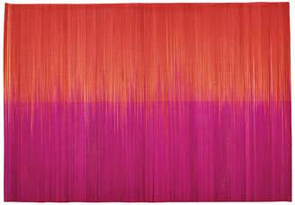 Kim Seybert Set of 4 Ombré Place Mats - Pink/Orange