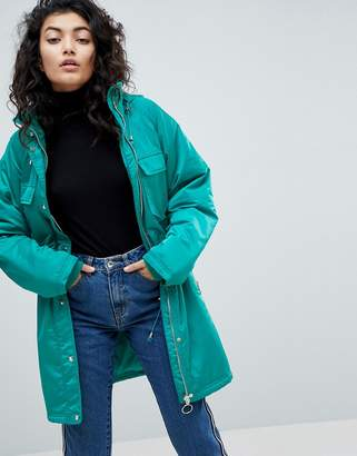 Asos Design Parka with Belt Detail