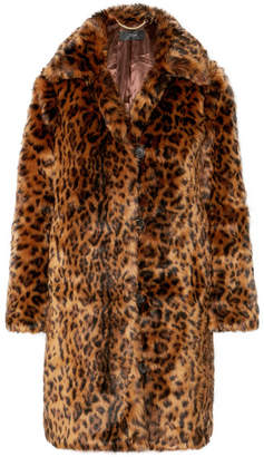J.Crew Leopard-print Faux Fur Coat - Brown